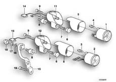 Goto diagram: BMW Classic Motorrad Modell R 1100 R 94 (0402,0407)( USA ), Category 62.11 ADDITIONAL INSTRUMENTS :: Diagram: 62_0260