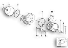 Goto diagram: BMW Classic Motorbike Model R 1200 C Indep. 00 (0405,0433)( ECE ), Category 62.11 SPEEDOMETER :: Diagram: 62_0313