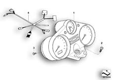 Goto diagram: BMW Classic Motorbike Model R 1200 CL (0442,0496)( USA ), Category 62.11 Instrument cluster :: Diagram: 62_0454