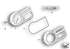 Goto diagram: BMW Classic Motorrad Modell HP2 Enduro (0369,0389)( ECE ), Category 62.11 Instrument cluster :: Diagram: 62_0484