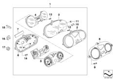 Goto diagram: BMW Classic Motorbike Model G 650 GS 09 (0178,0179)( ECE ), Category 62.11 Instrument cluster :: Diagram: 62_0512