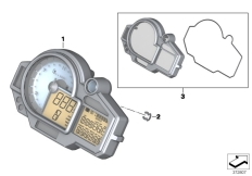 Goto diagram: BMW Classic Motorbike Model S 1000 RR 17 (0D50, 0D60)( ECE ), Category 62.11 Instrument cluster :: Diagram: 62_0520