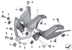 Goto diagram: BMW Classic Motorbike Model S 1000 R 17 (0D72)( BRA ), Category 62.11 Dashboard support :: Diagram: 62_0576