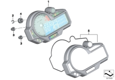 Goto diagram: BMW Classic Motorbike Model S 1000 R 17 (0D72)( BRA ), Category 62.11 Instrument cluster :: Diagram: 62_0591