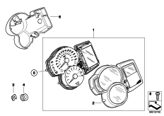 Goto diagram: BMW Classic Motorbike Model F 800 R (0215)( BRA ), Category 62.11 Instrument cluster :: Diagram: 62_0618