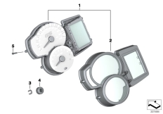 Goto diagram: BMW Classic Motorrad Modell F 700 GS 17 (0B26)( BRA ), Category 62.11 Instrument cluster :: Diagram: 62_0639
