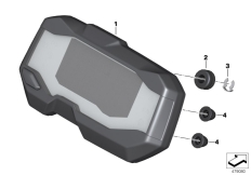 Goto diagram: BMW Classic Motorrad Modell G 310 GS (0G22)( BRA ), Category 62.11 Instrument cluster :: Diagram: 62_0651