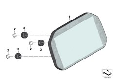 Goto diagram: BMW Classic Motorrad Modell R 1200 GS 17 (0A51, 0A61)( USA ), Category 62.11 Instrument cluster / TFT display :: Diagram: 62_0665