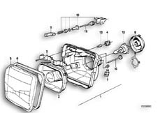 Goto diagram: BMW Classic Motorbike Model K 100 RS 83 (0502,0503,0513)( ECE ), Category 63.05 Headlight :: Diagram: 63S0364