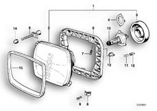 Goto diagram: BMW Classic Motorbike Model K 75 S (0563,0572)( ECE ), Category 63.05 Headlight :: Diagram: 63S0375