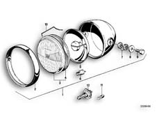 Goto diagram: BMW Classic Motorbike Model R65( USA ), Category 63.05 Headlight :: Diagram: 63_0330