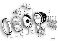 Goto diagram: BMW Classic Motorbike Model R 100 S( ECE ), Category 63.05 Headlight :: Diagram: 63_0342