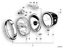 Goto diagram: BMW Classic Motorbike Model R 80 RT( USA ), Category 63.05 Headlight :: Diagram: 63_0368
