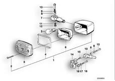 Goto diagram: BMW Classic Motorbike Model R 100 GS PD( ECE ), Category 63.10 Turn indicator :: Diagram: 63_0379