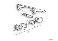 Goto diagram: BMW Classic Motorrad Modell R 80 R 91( ECE ), Category 63.10 Turn indicator :: Diagram: 63_0385