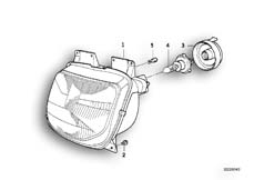 Goto diagram: BMW Classic Motorbike Model R 1100 RS 93 (0411,0416)( ECE ), Category 63.12 Headlight :: Diagram: 63_0387