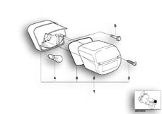 Goto diagram: BMW Classic Motorbike Model R 1150 GS Adv. 01 (0441,0492)( USA ), Category 63.21 Rear light :: Diagram: 63_0392