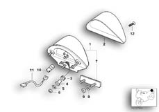 Goto diagram: BMW Classic Motorbike Model F 650 ST 97 (0163,0168)( ECE ), Category 63.21 Rear light :: Diagram: 63_0393