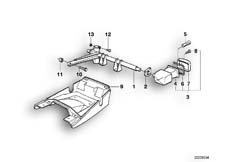 Goto diagram: BMW Classic Motorbike Model K 1100 LT (0526, 0536)( ECE ), Category 63.30 Priority vehicle light mounting parts :: Diagram: 63_0398