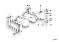 Goto diagram: BMW Classic Motorbike Model R 850 GS 95 (0403)( ECE ), Category 63.12 Single components for headlight :: Diagram: 63_0399