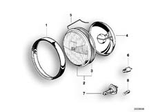 Goto diagram: BMW Classic Motorrad Modell R 1100 R 94 (0402,0407)( USA ), Category 63.12 Single components for headlight :: Diagram: 63_0400