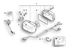 Goto diagram: BMW Classic Motorrad Modell R 1100 R 94 (0402,0407)( ECE ), Category 63.17 Rear fog light :: Diagram: 63_0445