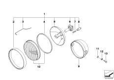 Goto diagram: BMW Classic Motorbike Model R 1200 C Indep. 00 (0405,0433)( ECE ), Category 63.12 Headlight :: Diagram: 63_0451