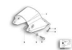 Goto diagram: BMW Classic Motorbike Model R 1200 C Indep. 00 (0405,0433)( ECE ), Category 63.12 Headlight bracket :: Diagram: 63_0457