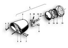 Goto diagram: BMW Classic Motorrad Modell R69 S( ECE ), Category 63.10 TAIL LIGHT PARTS :: Diagram: 63_0545