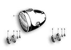 Goto diagram: BMW Classic Motorbike Model R69 S( USA ), Category 63.05 Headlight :: Diagram: 63_0560