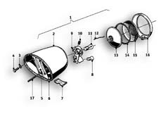 Goto diagram: BMW Classic Motorrad Modell R69 S( ECE ), Category 63.15 Rear light :: Diagram: 63_0561