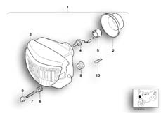 Goto diagram: BMW Classic Motorbike Model G 650 GS 09 (0178,0179)( ECE ), Category 63.12 Headlight :: Diagram: 63_0606