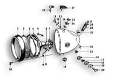 Goto diagram: BMW Classic Motorbike Model R51/2( ECE ), Category 63.05 Headlight :: Diagram: 63_0626