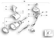 Goto diagram: BMW Classic Motorbike Model R 1200 C Indep. 00 (0405,0433)( ECE ), Category 63.17 Fog lights :: Diagram: 63_0641