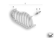 Goto diagram: BMW Classic Motorbike Model R 1150 GS Adv. 01 (0441,0492)( USA ), Category 63.12 Headlight grill :: Diagram: 63_0765
