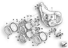Goto diagram: BMW Classic Motorbike Model R 1200 CL (0442,0496)( USA ), Category 63.12 Headlight :: Diagram: 63_0773