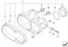 Goto diagram: BMW Classic Motorbike Model R 1200 GS Adve. 10 (0470,0480)( ECE ), Category 63.12 Headlight :: Diagram: 63_0849