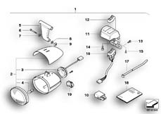 Goto diagram: BMW Classic Motorbike Model R 1200 Montauk 03 (0309,0319)( USA ), Category 63.17 Fog lights :: Diagram: 63_0880