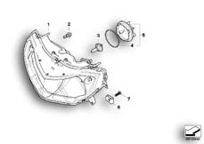 Goto diagram: BMW Classic Motorbike Model R 900 RT 05 SF (0367,0387)( ECE ), Category 63.12 Headlight :: Diagram: 63_0906