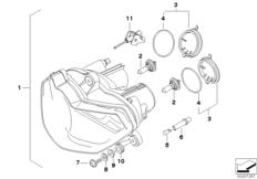 Goto diagram: BMW Classic Motorrad Modell R 1200 S (0366,0396)( ECE ), Category 63.12 Headlight :: Diagram: 63_0953