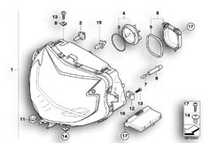 Goto diagram: BMW Classic Motorrad Modell K 1300 GT (0538,0539)( USA ), Category 63.12 Xenon headlight :: Diagram: 63_0964