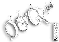 Goto diagram: BMW Classic Motorbike Model R 1200 R 06 (0378,0398)( USA ), Category 63.12 Headlight :: Diagram: 63_0984