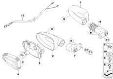 Goto diagram: BMW Classic Motorrad Modell G 450 X (0145)( USA ), Category 63.13 Direction indicators :: Diagram: 63_1131