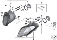 Goto diagram: BMW Classic Motorrad Modell HP4 (0D01, 0D11)( ECE ), Category 63.12 Headlight :: Diagram: 63_1188