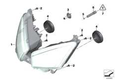 Goto diagram: BMW Classic Motorrad Modell C 650 Sport 16 (0C04, 0C14)( USA ), Category 63.12 Headlight :: Diagram: 63_1359