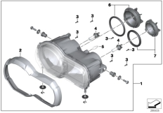 Goto diagram: BMW Classic Motorrad Modell R 1200 GS 17 (0A51, 0A61)( USA ), Category 63.12 Headlight :: Diagram: 63_1386