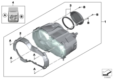Goto diagram: BMW Classic Motorrad Modell R 1200 GS 17 (0A51, 0A61)( USA ), Category 63.12 LED headlight :: Diagram: 63_1429
