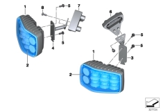 Goto diagram: BMW Classic Motorbike Model F 800 GT (0B03, 0B13)( USA ), Category 63.25 LED flash ID lamp, blue :: Diagram: 63_1461