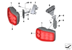 Goto diagram: BMW Classic Motorbike Model F 800 GT (0B03, 0B13)( USA ), Category 63.25 LED flashing ID light, red :: Diagram: 63_1462
