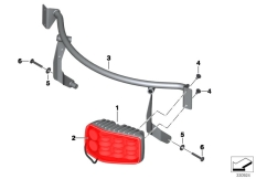 Goto diagram: BMW Classic Motorrad Modell F 700 GS (0B01, 0B11)( ECE ), Category 63.25 LED flashing ID light, red :: Diagram: 63_1490